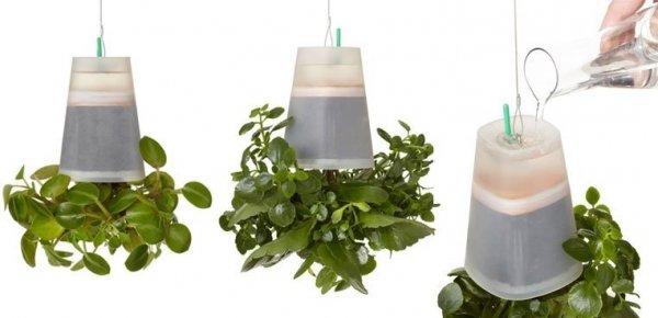 Boskke Sky Planter doniczka wisząca Recycled Medium Transparentna