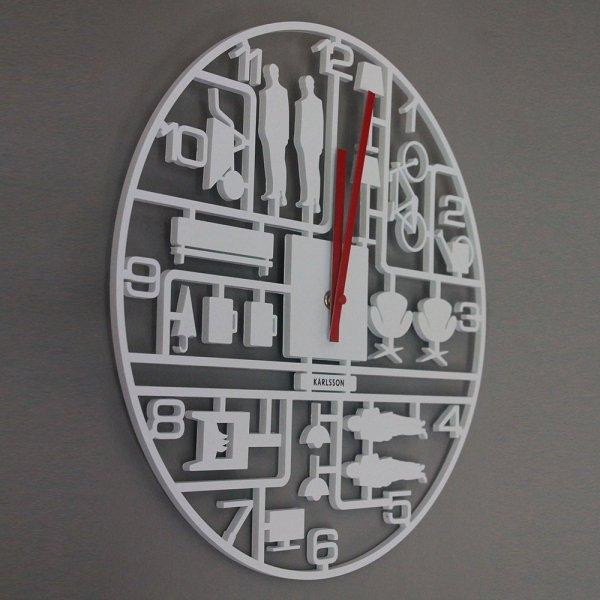 Zegar Model Kit Biały Karlsson