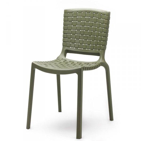 Stylowe krzesło Pedrali Tatami 305 Zielone