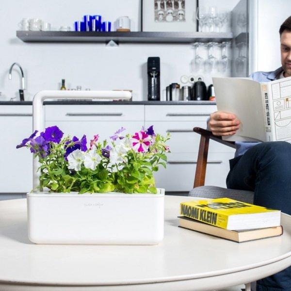 Stylowe doniczki inteligentne Smart Garden na kapsułki Click and Grow