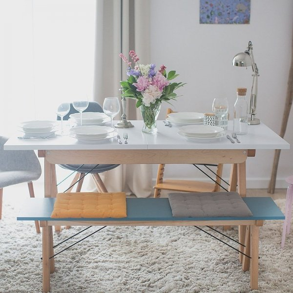 Stylowy rozkładany stół Minko Basic do kuchni i jadalni