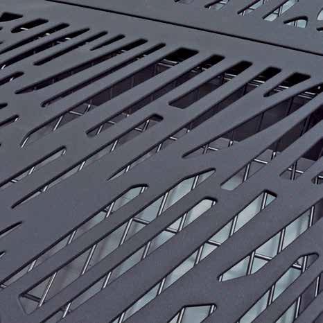 Grill z kratkami ze stali żeliwnej