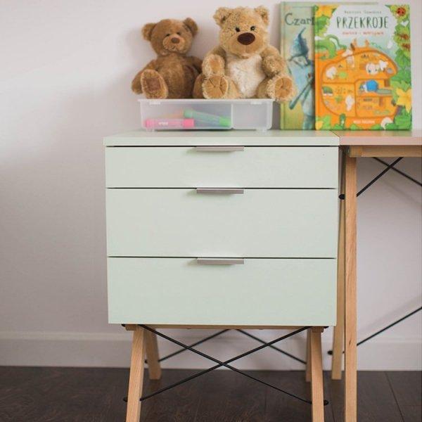 Designerski kontenerek dziecięcy Minko Kids z 3 szufladami