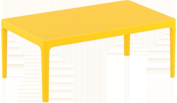 Stolik SKY Lounge Siesta z tworzywa żółty