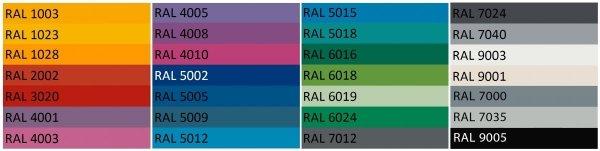 Donice Etro dostępne są w wielu pieknych, żywych kolorach