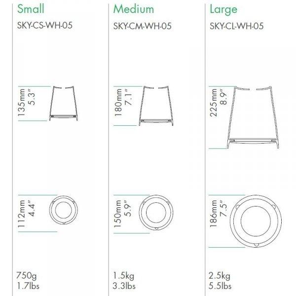 Rozmiary nowych doniczek Boskke Sky PLanter ceramicznych