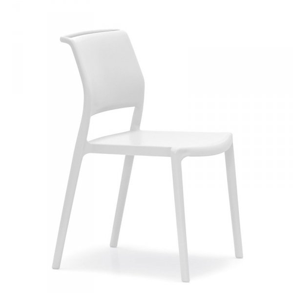 Nowoczesne krzesło ogrodowe Ara 310 Pedrali Białe