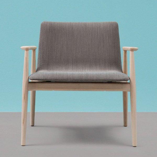 Stylowy fotel drewniany tapicerowany Malmo 296 Pedrali