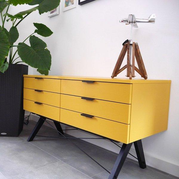 Stylowa szeroka szafka z szufladami Sideboard Double Minko