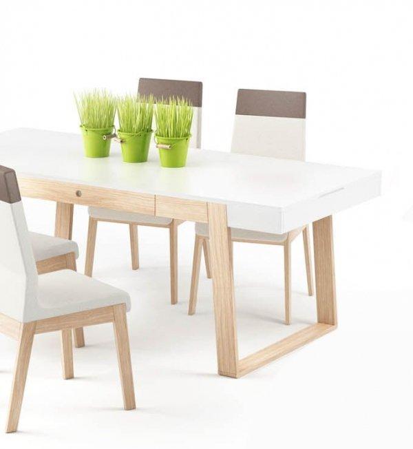 Funkcjonalny stół Magh średni, z 2 szufladami