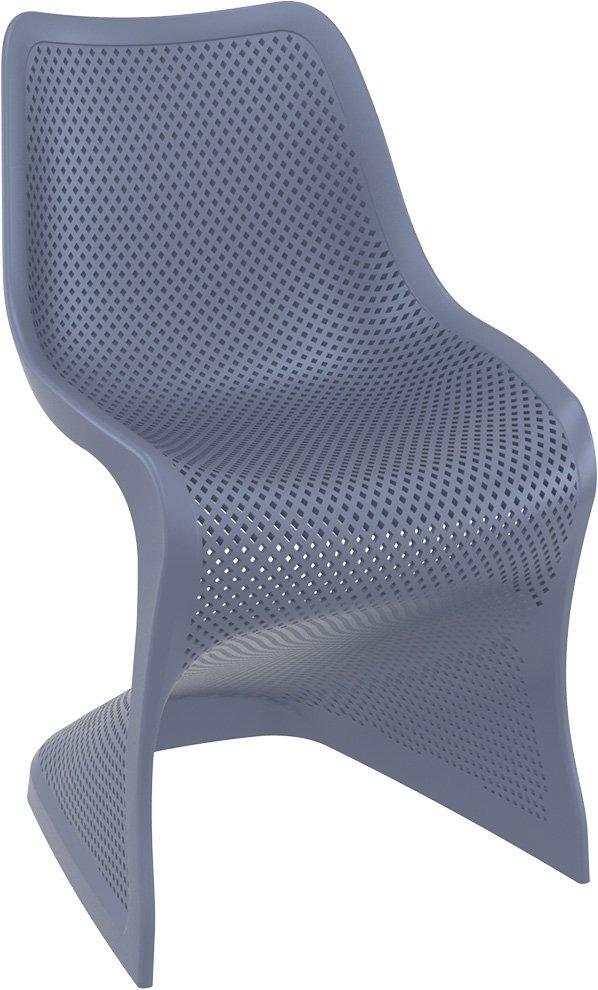 Krzesło Bloom Siesta z tworzywa ciemno szare