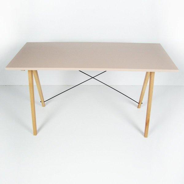 Minimalistyczne biurko Minko Slim w kolorze pudrowego różu