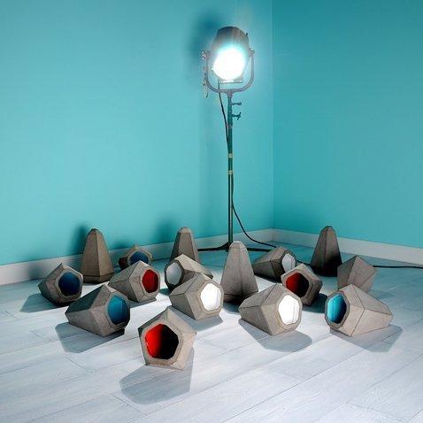 Portland lampa wisząca betonowa z kolorowym środkiem Innermost