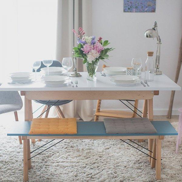 Uzupełnienie stołu Basic lub samodzielna ławka w duchu scandi, idealna do jadalni lub kuchni