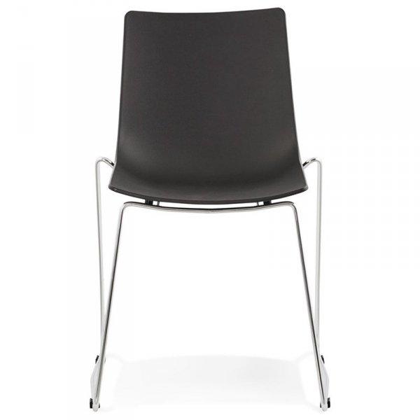 Minimalistyczne krzesło Tikada czarne