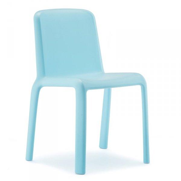 Nowoczesne krzesło dziecięce ogrodowe Pedrali Snow 303 Błękitne