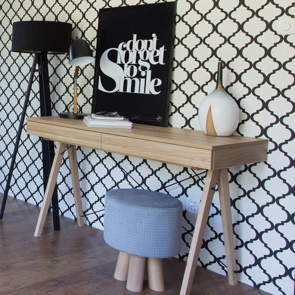 Biurko MInko Basic w pieknym kolorze Surowy Dąb
