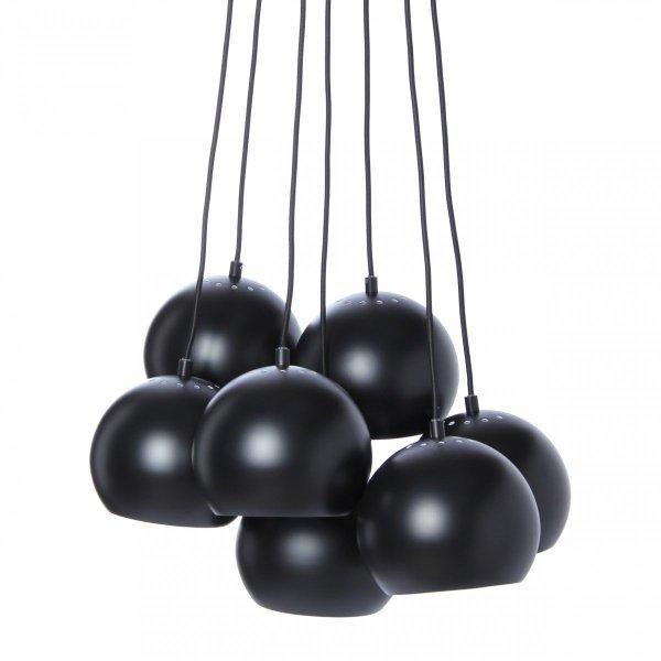 lampa wisząca BALL MULTI Frandsen w kolorze czarnym matowym