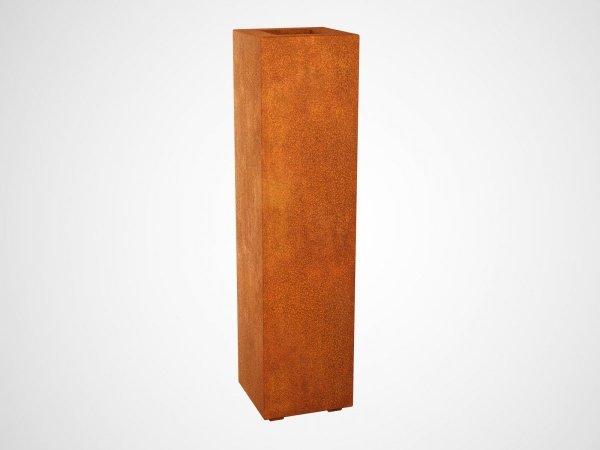 wysoka donica ogrodowa corten