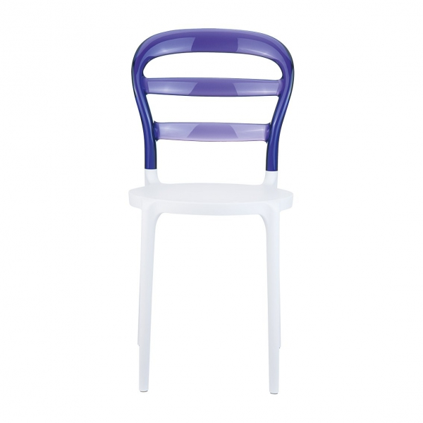 Siedzisko wykonane jest z polietylenu wzmocnionego włóknem szklanym, natomiast oparcie wykonane jest z transparentnego poliwęglanu. Dzięki takiemu rozwiązaniu oparcie krzesła kontrastuje z siedziskiem nie tylko kolorem, ale także fakturą.
