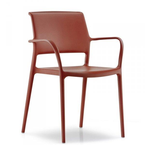 Nowoczesne krzesła ogrodowe Ara 315 Pedrali Brązowe