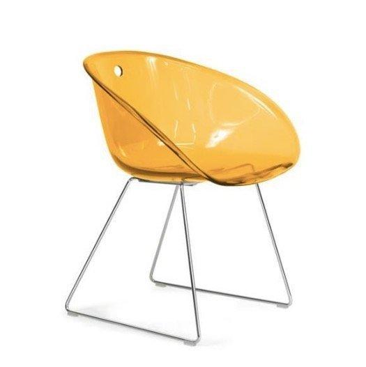 Gliss 921 Krzesło Pedrali pomarańczowe