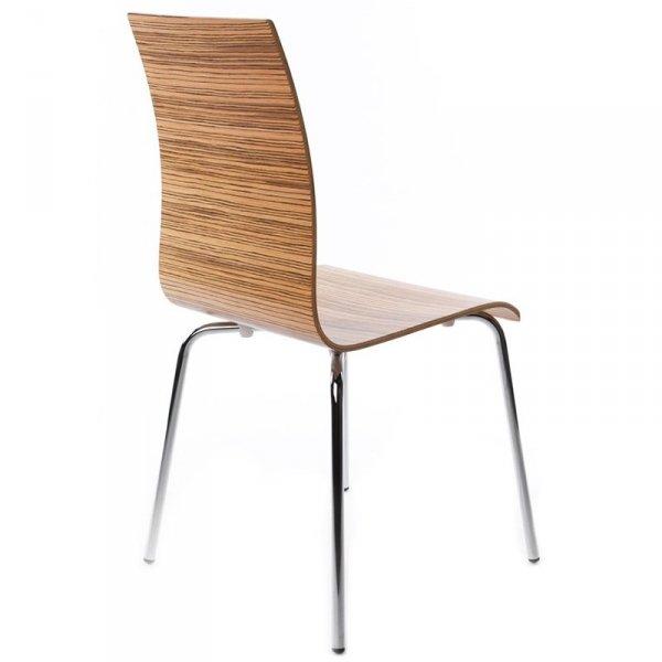 Classic stylowe krzesło do jadalni zebrano