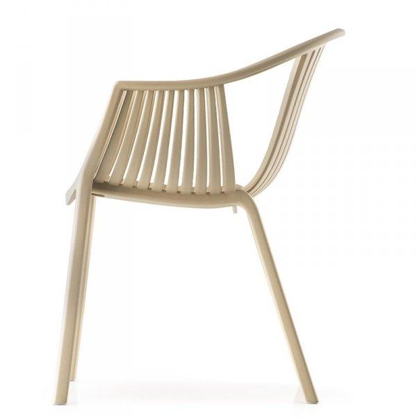 Nowoczesne krzesło z podłokietnikami Tatami 306 Pedrali Piaskowe