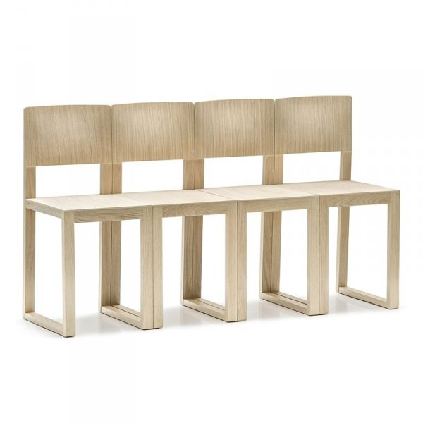 Krzesła wykonane z drewna dębowego Pedrali Brera 380