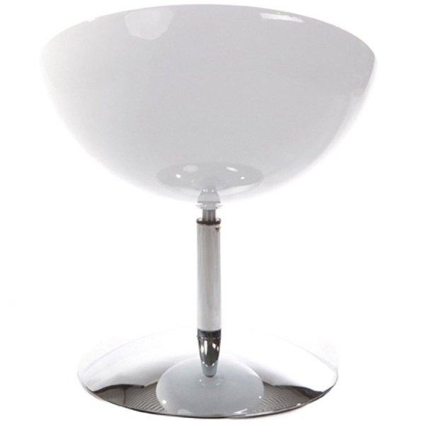 Nowoczesny fotel Bowl biały