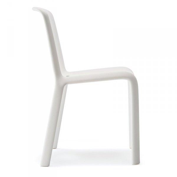 Nowoczesne krzesło do jadalni Pedrali Snow 300 Białe