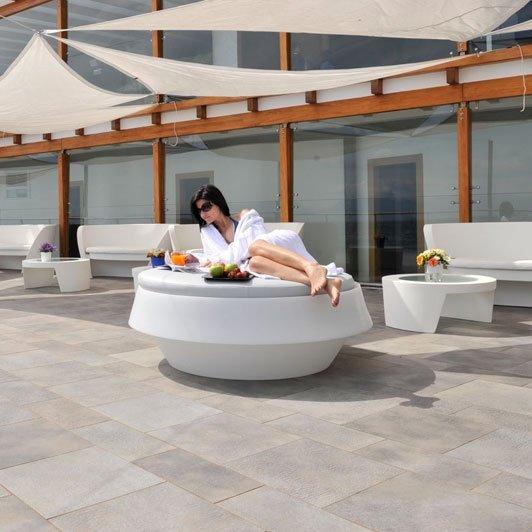 Giò Pouf sofa z wbudowanym oświetleniem Slide