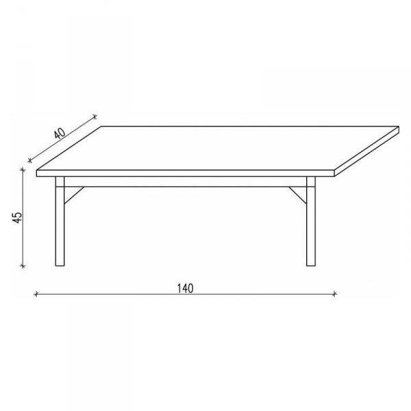 Ławka do stołu Minko Basic wymiary