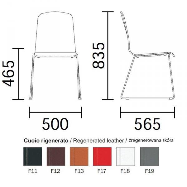 Nowoczesne krzesło Trend 448 wymiary