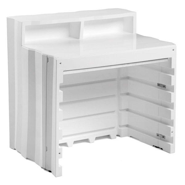 Bar modułowy Frozen można wyposażyć w dodatkowe akcesoria takie jak blat, półki, zlewozmywak