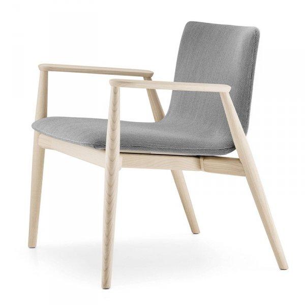 Nowoczesny fotel drewniany w stylu skandynawskim Malmo 296 Pedrali