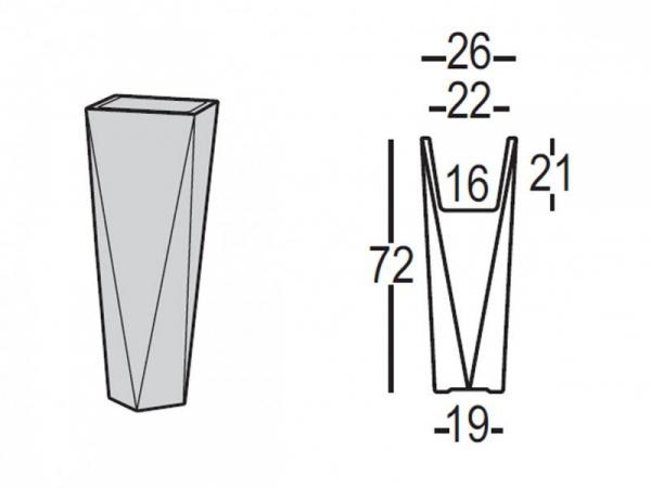 Donica Diamond dostępna jest w dwóch rozmiarach: wys. 72cm i 98 cm