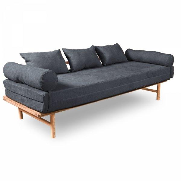 Le MAR Sofa rozkładana - surowe drewno popielata Woodman