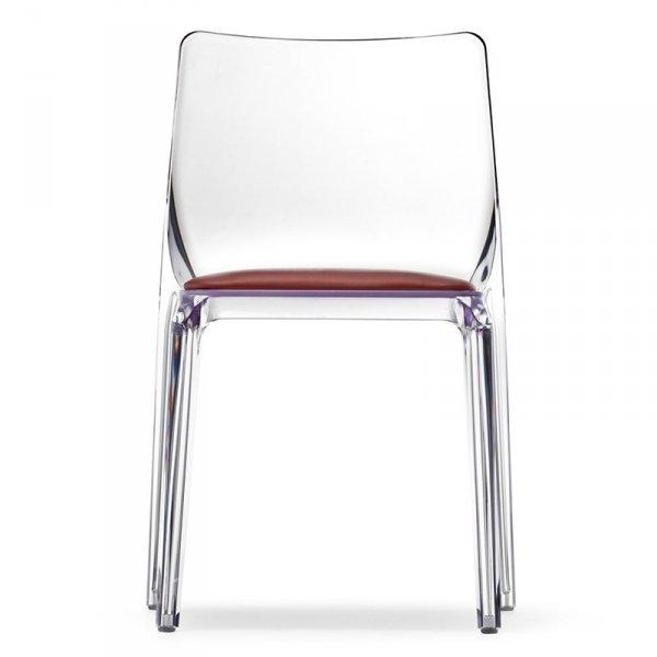 Transparentne krzesła do jadalni, restauracji, kawiarni