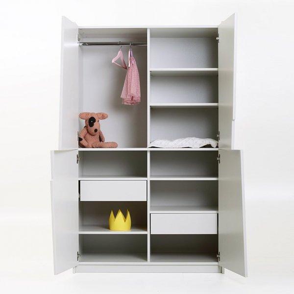 Szafa z półkami oraz drążkiem do pokoju dziecięcego Kukuu