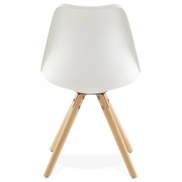 Tolik krzesło w stylu skandynawskim białe