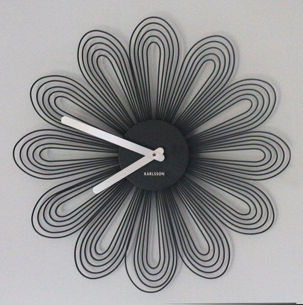Zegar ścienny Petals czarny Karlsson