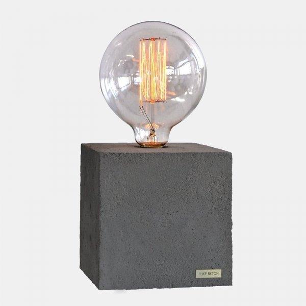 Lampka w stylu industrialnym Edison Cube I like Beton