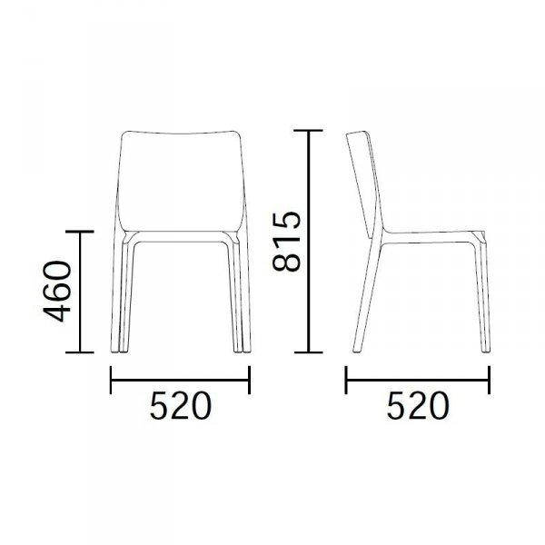 Blitz 641 krzesło Pedrali wymiary