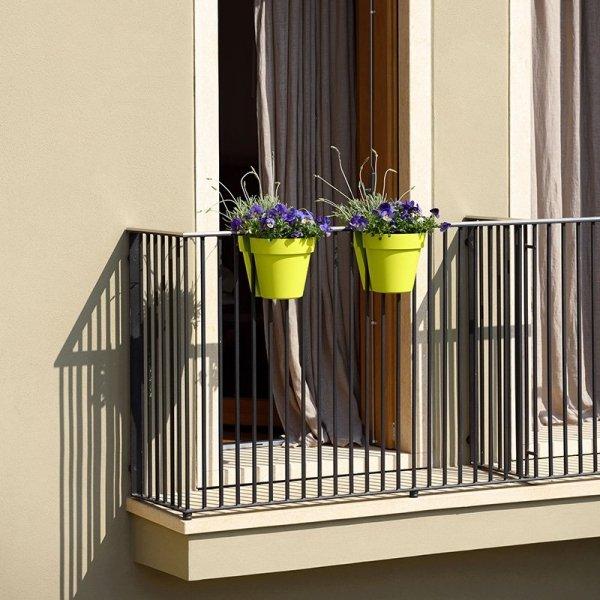 Podwójne doniczki na balkon w pięknych kolorach BE-UP