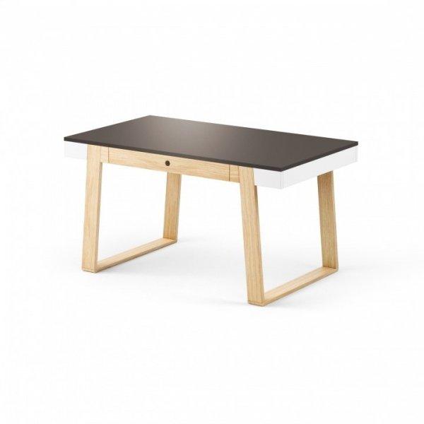 Stół Magh Absynth 75x80x140/220 cm rozkładany w kolorze grafitowym