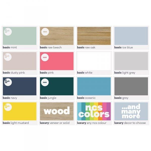 Designerski regał Light Minko kolory