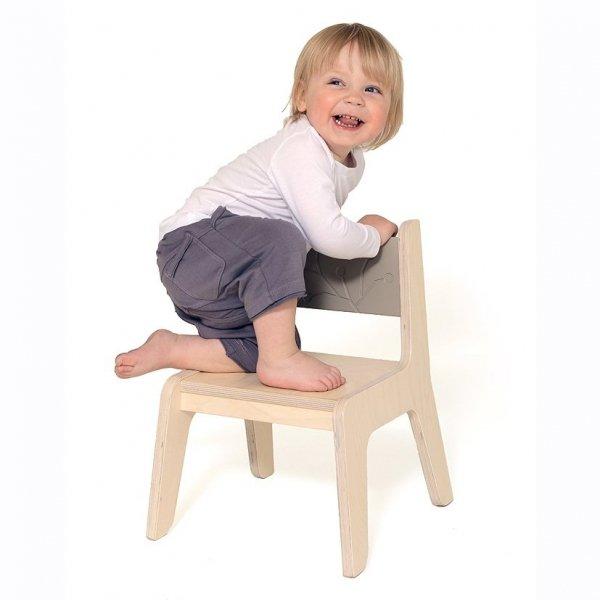 KuKuu Krzesełko Dziecięce S w kolorze kakaowym Bird&Berry