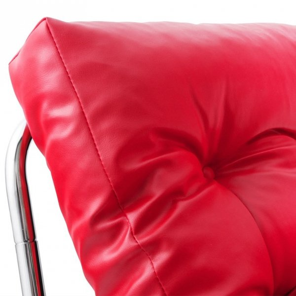Wygodny fotel pikowany Boudoir czerwony