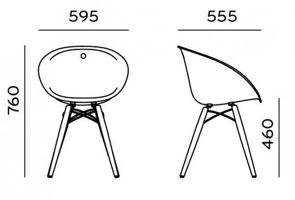 Krzesło Glis 905 wymiary